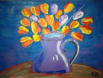 Abstrakte malerei, Blumen, Tulpen, Fantasie