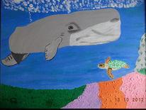 Abstrakte malerei, Comic, Tiere, Malerei