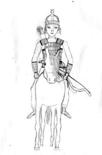 Pony, Pfeil und bogen, Rüstung, Helm