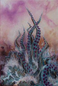 Krake, Fantasie, Malerei, Acrylmalerei