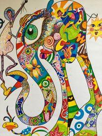 Humor, Freude, Fantasie, Elefant
