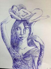 Mann, Trost, Kugelschreiber, Frau