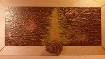 Abstrakt, Struktur, Braun, Gold