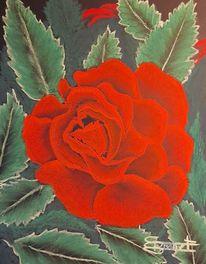 Blumen, Komplementärfarbe, Kontrast, Malerei