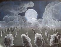 Mondlicht, Mystik, Menhire, Malerei