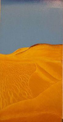 Wüste, Ocker, Blau, Horizont