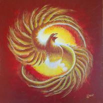 Phoenix, Kreis, Drehung, Feuer