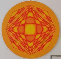 Rot, Gelb, Quadrat, Malerei