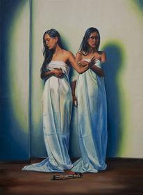 Fotorealismus, Portrait, Ölmalerei, Menschen