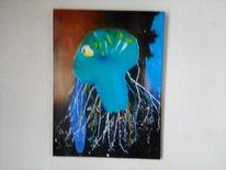 Wasser, Acrylmalerei, Qualle, Malerei