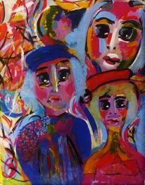 Kleidung, Gesicht, Farben, Malerei