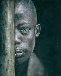 Portraitzeichnung, Pastellmalerei, Afrika, Zeichnung
