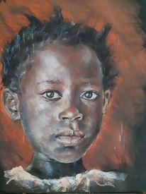 Afrika, Kinder, Pastellmalerei, Zeichnungen