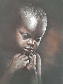 Afrika, Portrait, Kinder, Portraitzeichnung