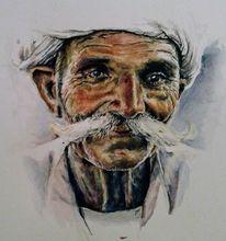 Indien, Aquarellmalerei, Portrait, Aquarell