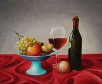 Weinglas, Obst, Rot, Obstschale
