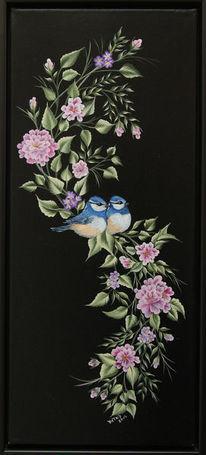 Blüte, Acrylmalerei, Natur, Blätter