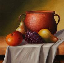 Obst, Tuch, Apfel, Faltenwurf
