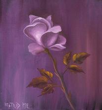 Ölmalerei, Natur, Rosenblüte, Lila
