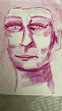 Abstrakt, Portrait, Gesicht, Menschen