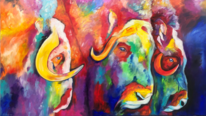 Acrylpainting, Rind, Abstrakt, Gemälde