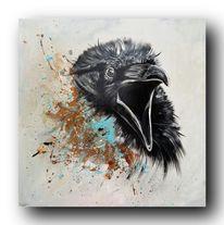 Acrylmalerei, Gemälde, Vogel, Modern art