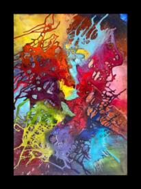 Acrylmalerei, Rot, Gemälde, Galery