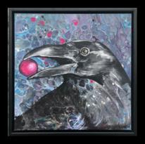 Krähe, Acrylmalerei, Gemälde, Vogel