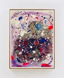 Acrylmalerei, Tanz, Farben, Rot