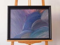 Ovale, Ölfarben, Malkarton, Abstrakte malerei