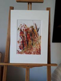 Waldbrand, Abstrakte kunst, Ölfarben, Kreativ
