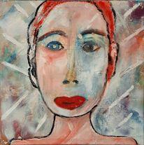 Gesicht, Licht, Frau, Malerei
