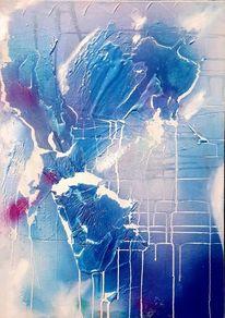 Blau, Malerei,