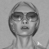 Portrait, Digitale malerei, Figur, Digitale kunst