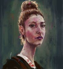 Digitale malerei, Gemälde, Augen, Digitale kunst