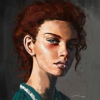 Malerei, Augen, Skizze, Digitale kunst