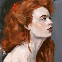Portrait, Digitale malerei, Figur, Augen