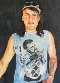 Portrait, Mann, Menschen, Pastellmalerei