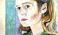Frau, Sandrine bonnaire, Blond, Malerei