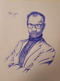 Kugelschreiber, Zeichnung, Menschen, Gatis