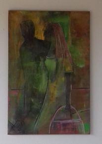 Acrylmalerei, Liebe, Paar, Gemeinsam