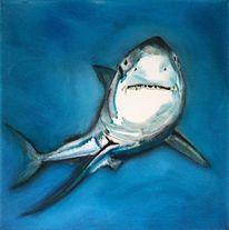 Der weisse hai, Malerei, Figur, Hai