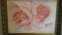 Groß, Rosa, Rose, Malerei