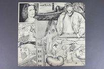 Bleistiftzeichnung, Fotorealismus, Surreal, Wimmelbild