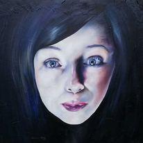 Portrait, Träumerei, Malerei,