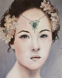 Menschen, Ölmalerei, Portrait, Frau