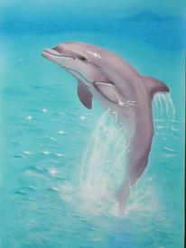 Blau, Delfin, Grau, Tiere