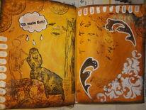 Angst, Tod, Fledermaus, Skizzenbuch
