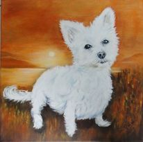 Hund, Vierbeiner, Schoßhündchen, Malerei