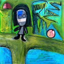 Farben, Abstrakt, Malerei, Figur